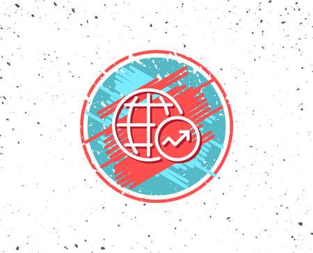 World Statistics line icon. 向量圖像