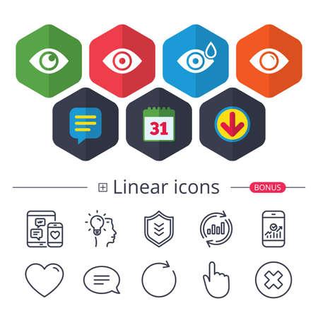 Eye icons. 版權商用圖片 - 90245048
