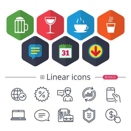 Drinks icons.