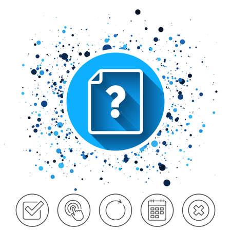File document help icon. Vektorové ilustrace