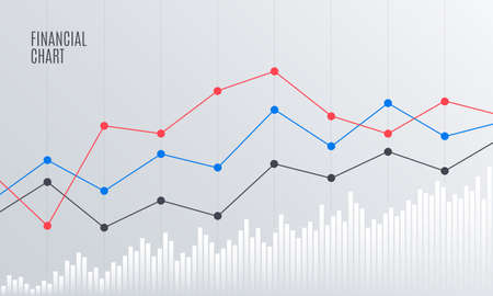 Abstract Financial Chart with Line Graph in Stock exchange market. Statistics uptrend. Analytics Data Report. Vector illustration. Stock fotó - 90851891
