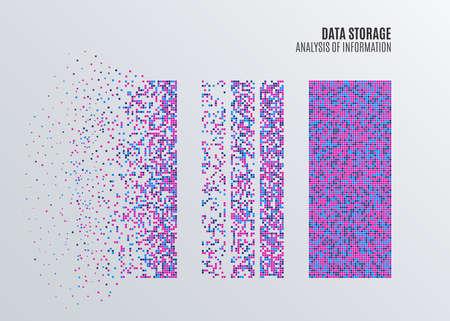 Apprentissage Big Data ou algorithmes statistiques. Analyse de la conception de l'infographie de l'information. Contexte scientifique ou technologique. Illustration vectorielle