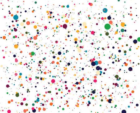 Sfondo di cerchi astratti. Posizionamento casuale di elementi. Sfondo geometrico creativo. Disegno a pois o bolle colorate. Archivio Fotografico - 91105624