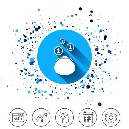 Icono de signo de billetera . efectivo efectivo icono de monedas . icono de calendario de fotos . Foto de archivo - 91106528