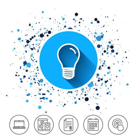 Light bulb icon. Lamp E27 screw socket symbol. Illustration