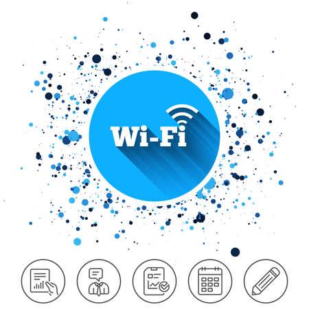 Draadloos netwerk pictogram afbeelding op witte achtergrond. Stock Illustratie