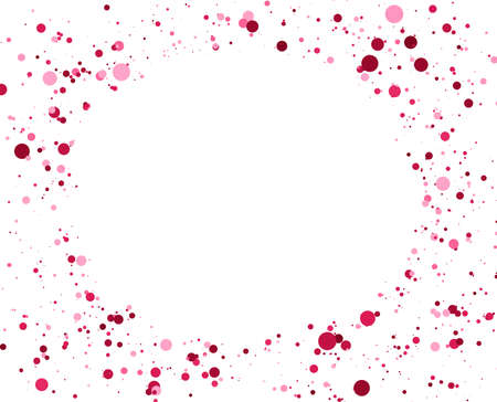 Abstract Circles background. Random positioning of elements. Creative geometric backdrop. Colored dotted or bubbles design. Ilustrace