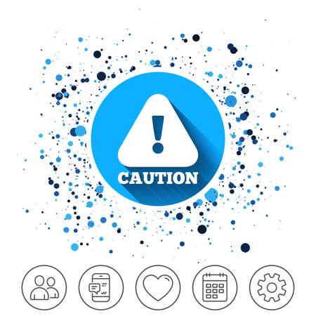 Caution on circles icon. Иллюстрация