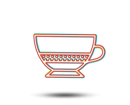 Bombon coffee icon. Hot drink sign. Beverage symbol. Colourful graphic design. Vector