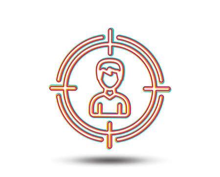 Head hunting line icon. Business target or Employment sign. Colourful graphic design. Vector