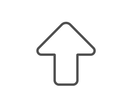 Upload arrow line icon. Direction Arrowhead symbol. Navigation pointer sign. Quality design element. Editable stroke. Vector 일러스트