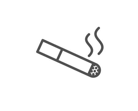 Smoking area line icon. Cigarette sign. Smokers zone symbol. Quality design element. Editable stroke. Vector