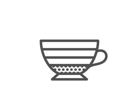 Cappuccino coffee icon. Hot drink sign. Beverage symbol. Quality design element. Editable stroke. Vector