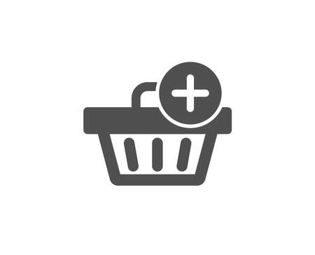 Add to Shopping cart simple icon. Online buying sign. Supermarket basket symbol. Quality design elements. Classic style.