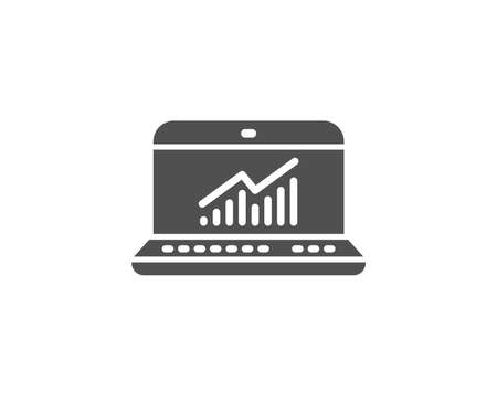Data Analysis and Statistics simple icon. Report graph or Chart sign. Computer data processing symbol. Quality design elements. Classic style. Vector 向量圖像