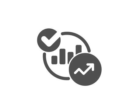 Charts, Statistics simple icon. Report graph or Sales growth sign. Analytics data symbol. Quality design elements. Classic style.