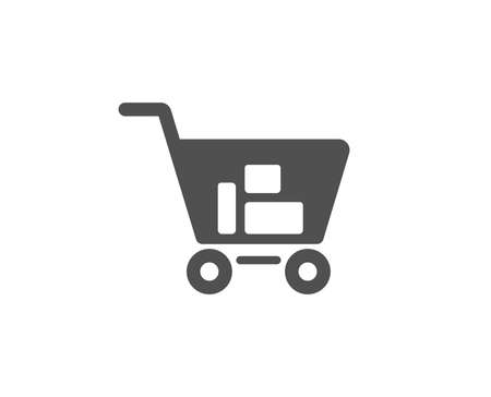 Shopping cart simple icon. Online buying sign. Supermarket basket symbol. Quality design elements. Classic style.
