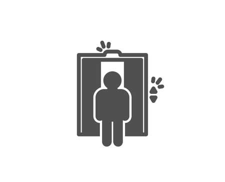 Lift simple icon. Elevator sign. Transportation between floors symbol. Quality design elements. Classic style. Vector illustration.