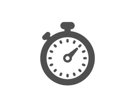 Timer simple icon. Stopwatch symbol. Time management sign. Quality design elements. Classic style. Vector illustration.