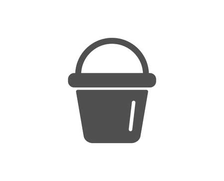 Cleaning bucket simple icon. Washing housekeeping equipment sign. Quality design elements. Classic style. Vector illustration. Illustration