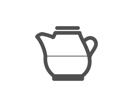 Milk jug for coffee icon. Fresh drink sign. Beverage symbol. Quality design elements. Classic style. Vector illustration.