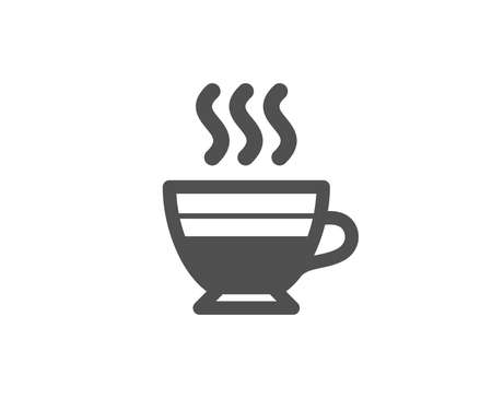 Cafe creme icon. Hot drink sign. Beverage symbol. Quality design elements. Classic style. Vector Illustration