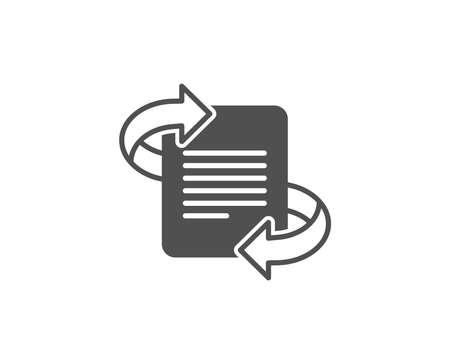 マーケティングシンプルなアイコン。矢印記号付きのページ。記事シンボル。品質設計要素。クラシックなスタイル。ベクトル  イラスト・ベクター素材