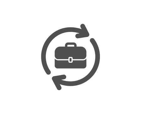 Zakelijke werving eenvoudig pictogram. Portfolio case of sollicitatiegesprek teken. Kwaliteitsontwerpelementen. Klassieke stijl. Vector