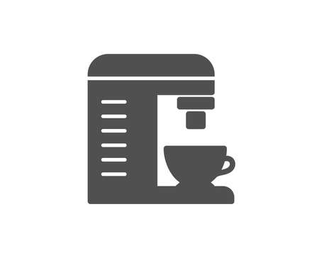Coffee machine simple icon. Hot drink sign. Fresh beverage symbol. Quality design elements. Classic style. Vector