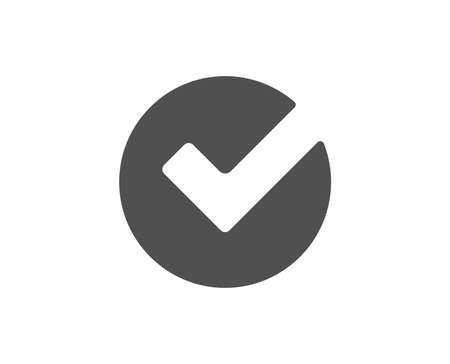 Check simple icon. Approved Tick sign. Confirm, Done or Accept symbol. Quality design elements. Classic style. Vector Vettoriali