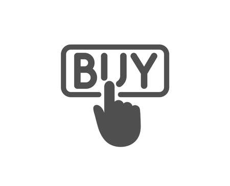 Click to Buy simple icon. Online Shopping sign. E-commerce processing symbol. Quality design elements.
