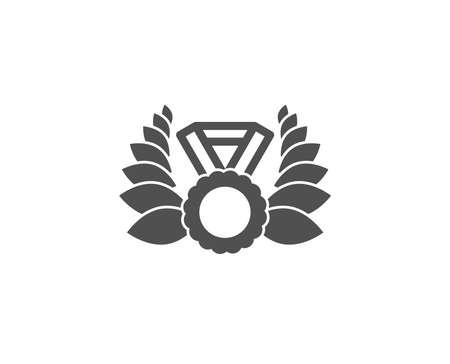 Laurel wreath simple icon. Winner medal symbol. Prize award sign. Quality design elements. Stock Vector - 93881206