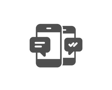 Phone Message simple icon. Mobile chat sign. Conversation or SMS symbol. Quality design elements.