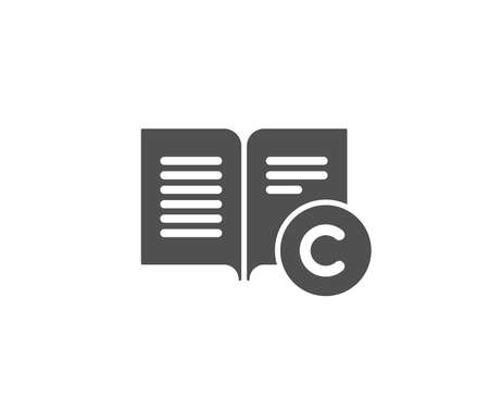 Copy right simple icon. Copy writing or Book sign. Feedback symbol. Quality design elements. Çizim