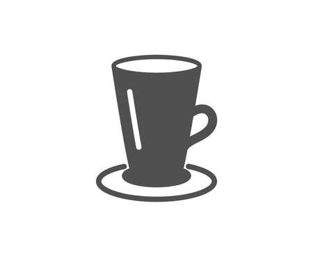Cup of Tea simple icon. Fresh beverage sign. Latte or Coffee symbol. Quality design elements.
