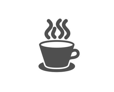 Tea or Coffee simple icon. Hot drink sign. Fresh beverage symbol. Quality design elements. Çizim