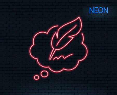 Neon point copier l & # 39 ; écriture de l & # 39 ; écriture bulle de l & # 39 ; icône . signe de signe d & Banque d'images - 93836877