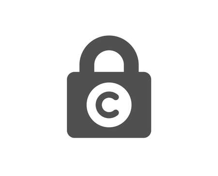 Copyright locker simple icon. Copy writing sign. Private Information symbol. Quality design elements.