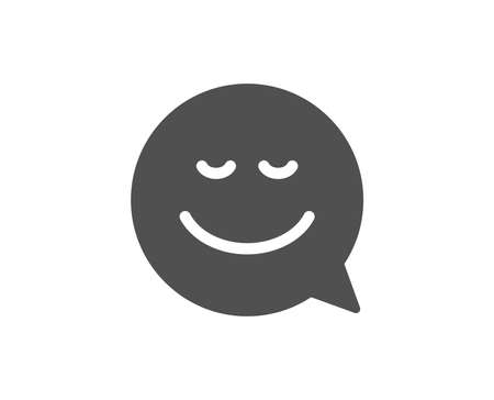 Comic speech bubble with Smile simple icon. Chat emotion sign. Quality design elements. Classic style.