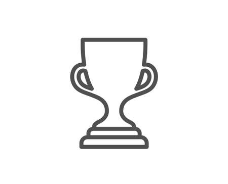 Award cup line icon. Winner Trophy symbol. Sports achievement sign. Quality design element.