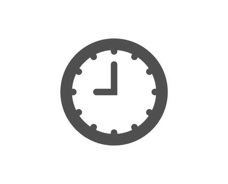 Clock simple icon. Time sign. Office Watch or Timer symbol. Quality design elements. Classic style. Vector Illustration