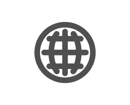 Globe simple icône. monde ou le signe de la terre. global qualité . les symboles de style de vie. illustration de style moderne . vecteur Banque d'images - 95164302
