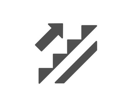 Stairs simple icon. Shopping stairway sign. Entrance or Exit symbol. Quality design elements. Classic style. Vector 向量圖像