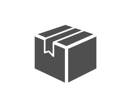 出荷ボックスのシンプルなアイコン。ロジスティクス配送サイン。区画トラッキング シンボル。品質設計要素。クラシックなスタイル。ベクトル  イラスト・ベクター素材