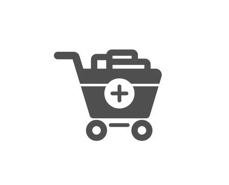 Add to Shopping cart simple icon. Online buying sign. Supermarket basket symbol. Quality design elements. Classic style. Vector