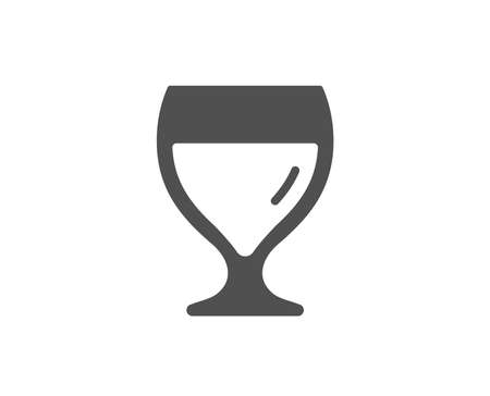 Wine glass simple icon. Alcohol drink sign. Beverage symbol. Quality design elements. Classic style. Vector Illustration