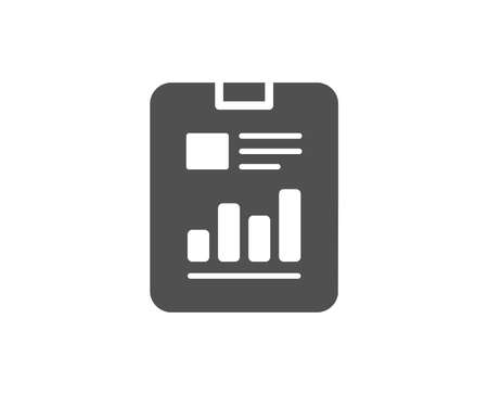Report document simple icon. Analysis Chart or Sales growth sign. Statistics data symbol. Quality design elements. Classic style. Vector