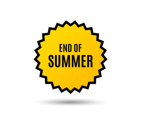 End of Summer Sale. Special offer price sign. Advertising Discounts symbol. Star button. Graphic design element. Vector Archivio Fotografico - 95164419