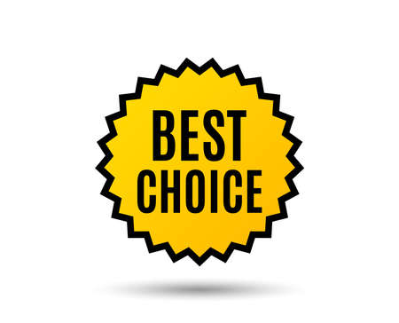 Best choice. Special offer Sale sign. Advertising Discounts symbol. Star button. Graphic design element. Vector Illustration