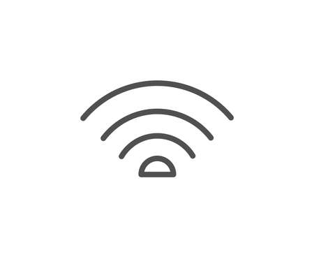 Wifi line icon. Wifi internet sign. Wireless network symbol. Quality design element. Editable stroke. Vector Illustration